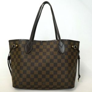 Auth Louis Vuitton Neverfull Pm Damier #2150L42